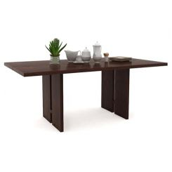 Angelia Dining Table (Walnut Finish)