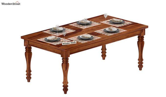 Arenberg Dining Table (Teak Finish)-5