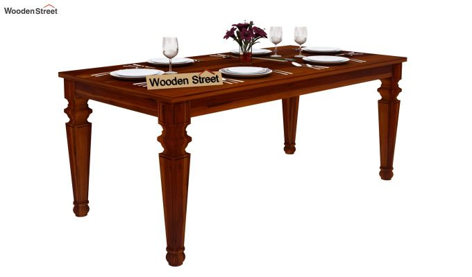 Ariana 6 Seater Dining Table (Honey Finish)-2