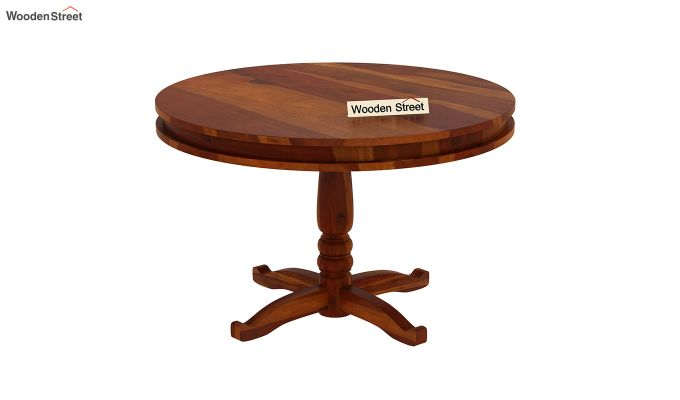 Atlas 2 Seater Round Dining Table (Honey Finish)-2