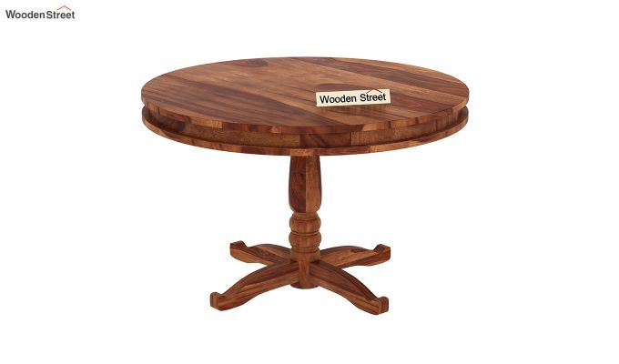 Atlas 2 Seater Round Dining Table (Teak Finish)-2