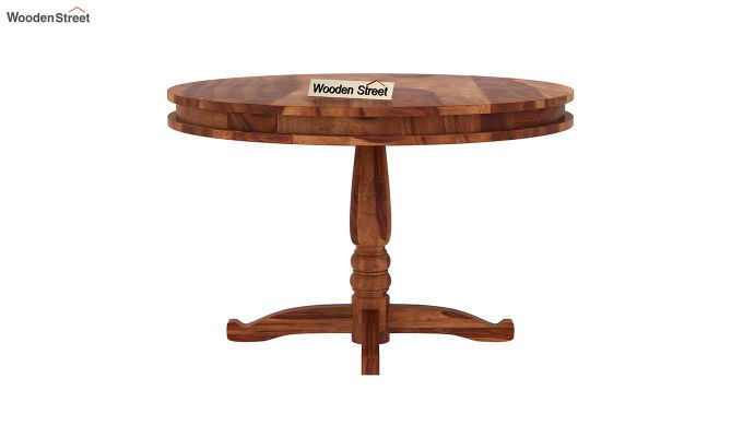 Atlas 2 Seater Round Dining Table (Teak Finish)-3