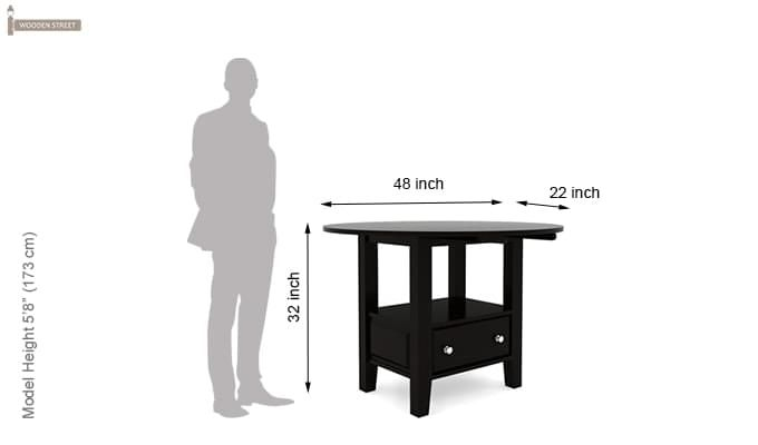 Avian Dining Table (Black Finish)-6