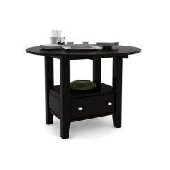 Avian Dining Table (Black Finish)