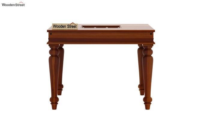Boho 4 Seater Dining Table (Honey Finish)-3