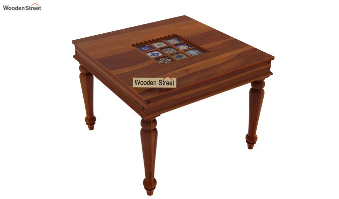 Boho 4 Seater Dining Table (Honey Finish)-4