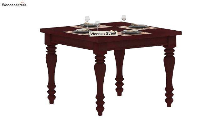 Bonita 2 Seater Dining Table (Mahogany Finish)-2
