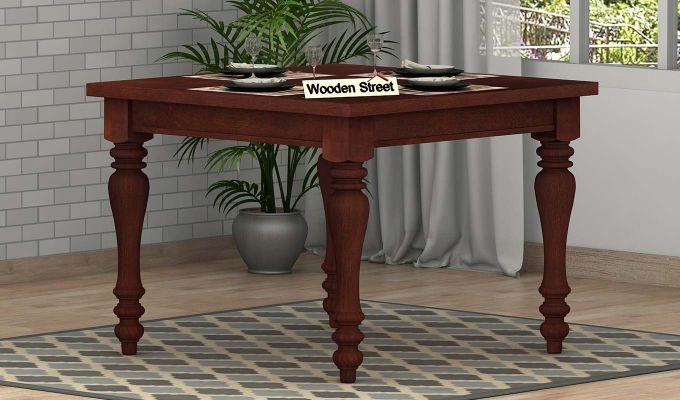 Bonita 2 Seater Dining Table (Mahogany Finish)-1