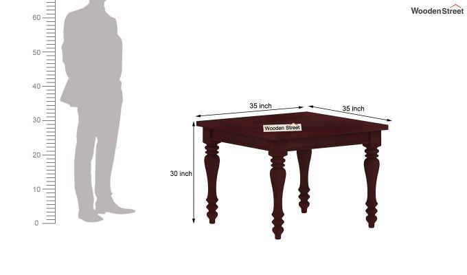 Bonita 2 Seater Dining Table (Mahogany Finish)-6