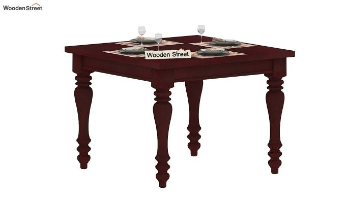 Bonita 4 Seater Dining Table (Mahogany Finish)-2