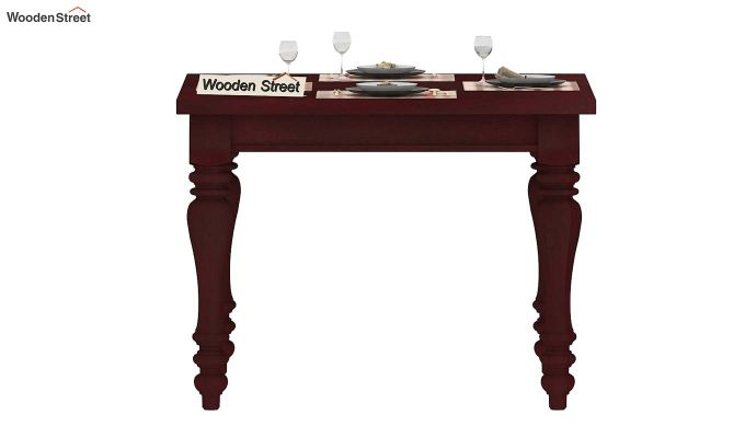 Bonita 4 Seater Dining Table (Mahogany Finish)-3
