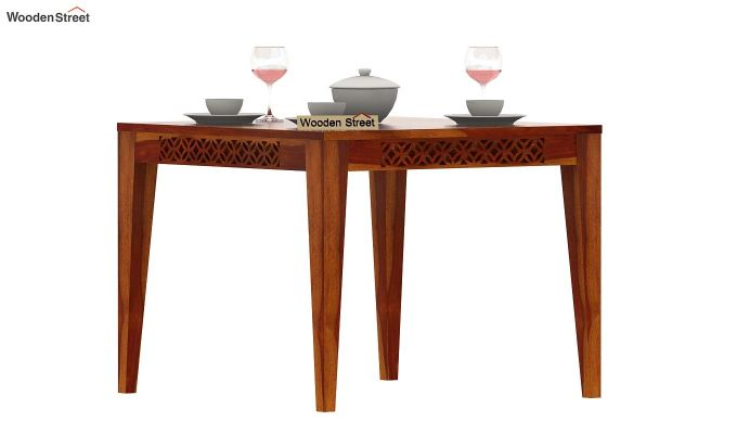 Cambrey 4 Seater Dining Table (Honey Finish)-1