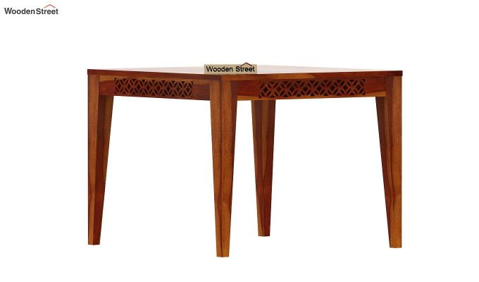 Cambrey 4 Seater Dining Table (Honey Finish)-2
