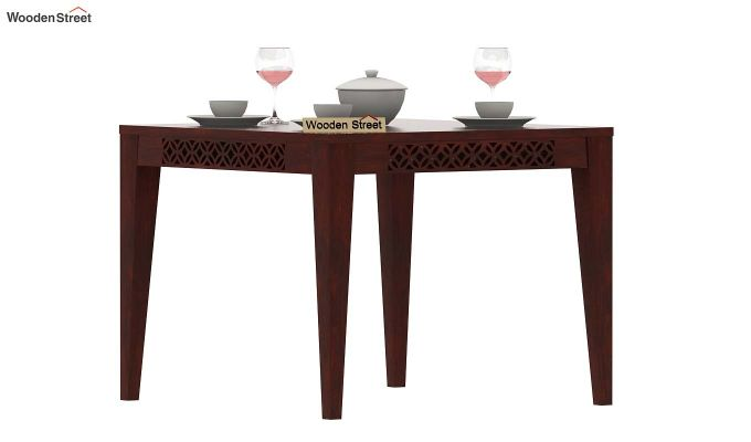 Cambrey 4 Seater Dining Table (Mahogany Finish)-1