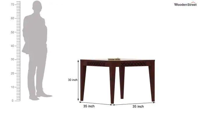 Cambrey 4 Seater Dining Table (Mahogany Finish)-4