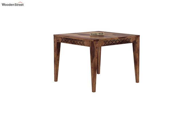 Cambrey 4 Seater Dining Table (Teak Finish)-2