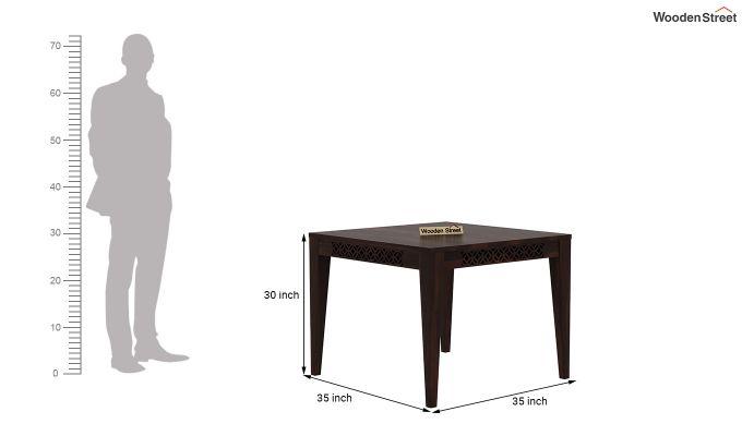 Cambrey 4 Seater Dining Table (Walnut Finish)-4