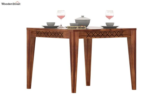 Cambrey 4 Seater Dining Table (Teak Finish)-1