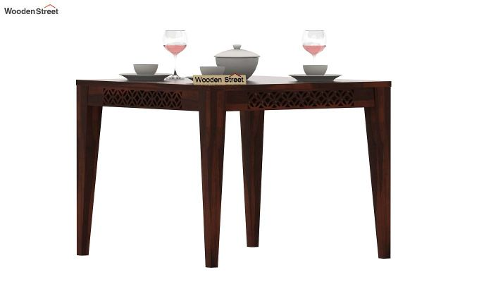 Cambrey 4 Seater Dining Table (Walnut Finish)-2