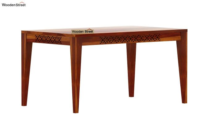 Cambrey 6 Seater Dining Table (Honey Finish)-4