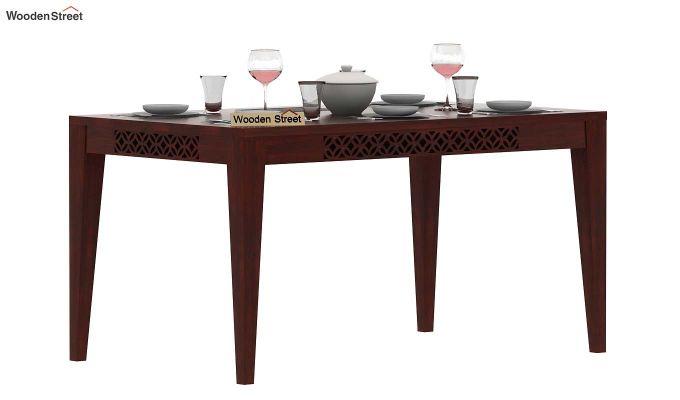 Cambrey 6 Seater Dining Table (Mahogany Finish)-1
