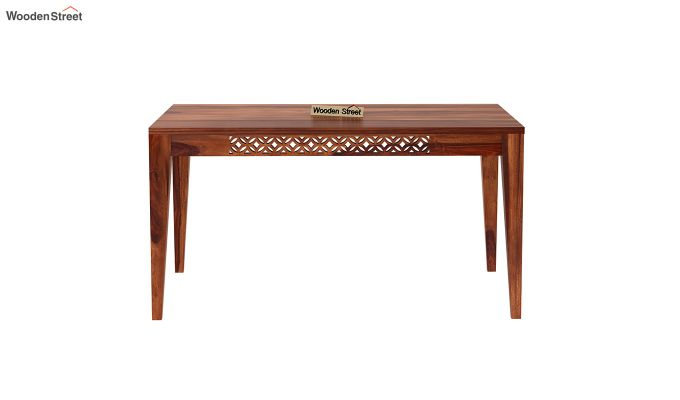 Cambrey 6 Seater Dining Table (Honey Finish)-3