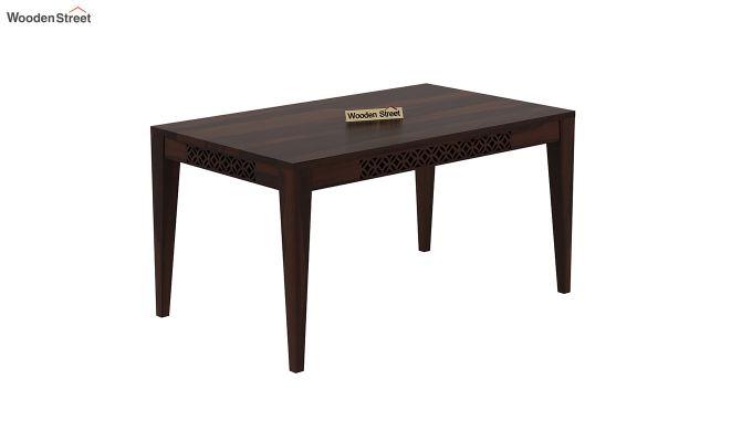 Cambrey 6 Seater Dining Table (Walnut Finish)-2