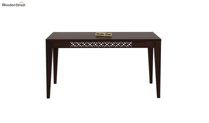 Cambrey 6 Seater Dining Table (Walnut Finish)-3