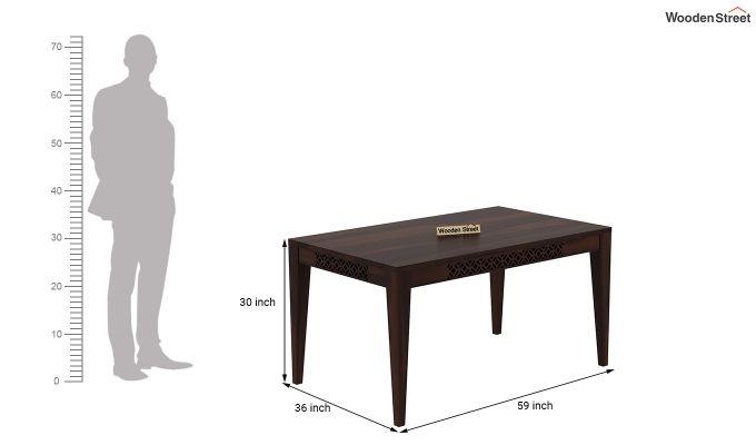 Cambrey 6 Seater Dining Table (Walnut Finish)-4