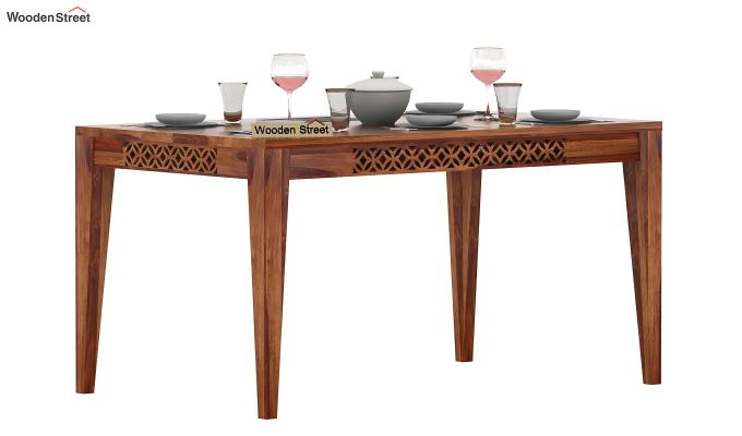 Cambrey 6 Seater Dining Table (Teak Finish)-1