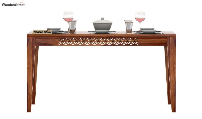 Cambrey 6 Seater Dining Table (Teak Finish)-2