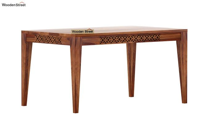 Cambrey 6 Seater Dining Table (Teak Finish)-3