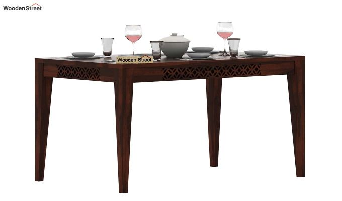 Cambrey 6 Seater Dining Table (Walnut Finish)-1