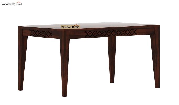 Cambrey 6 Seater Dining Table (Walnut Finish)-3