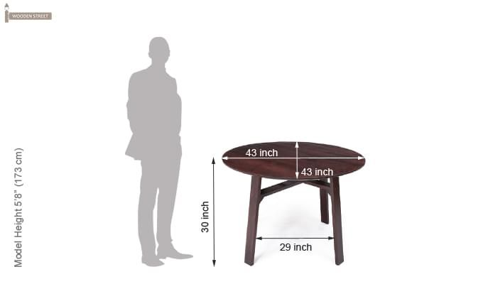 Charlie Dining Table (Mahogany Finish)-5