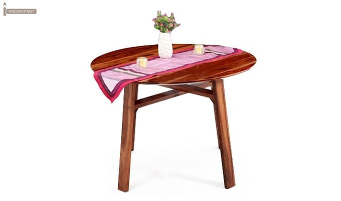 Charlie Dining Table (Teak Finish)-1