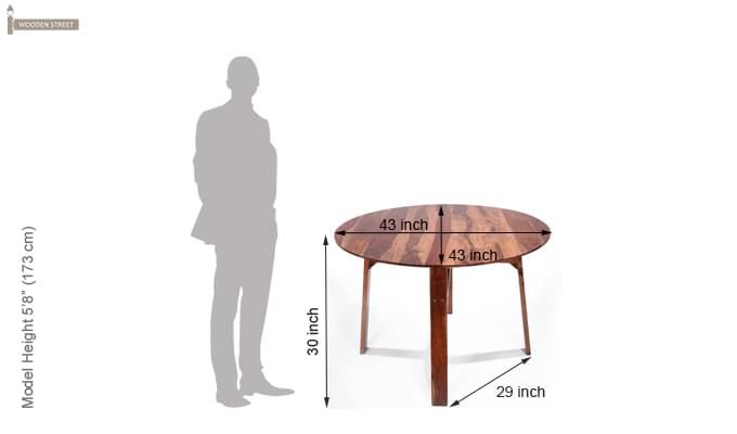 Charlie Dining Table (Teak Finish)-5