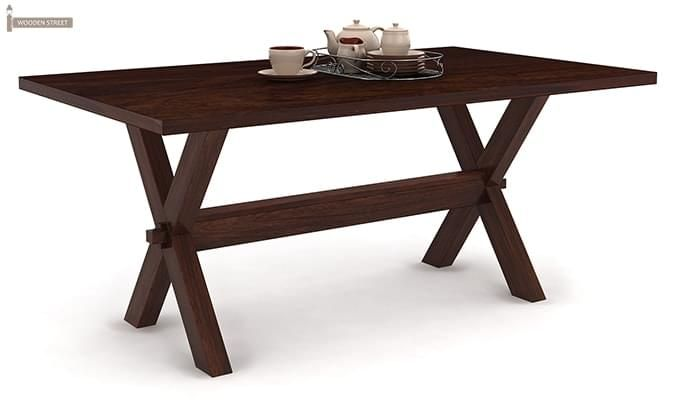Waltz Dining Table (Walnut Finish)-1