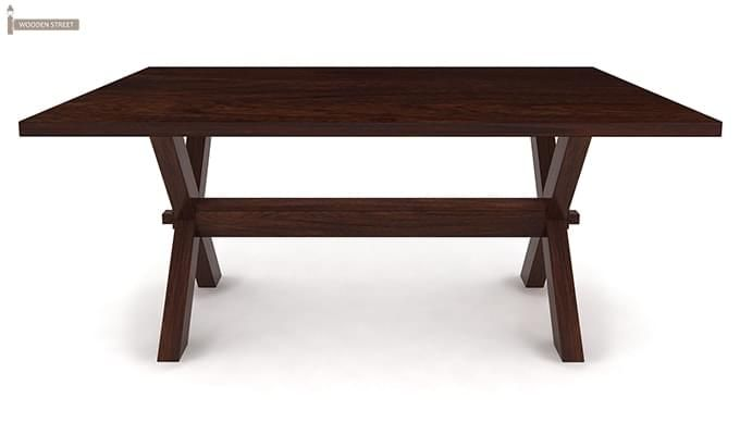 Waltz Dining Table (Walnut Finish)-3