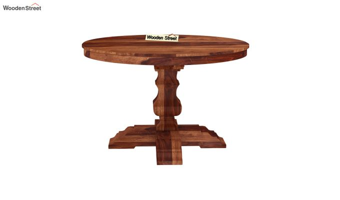 Clark Round 4 Seater Dining Table (Honey Finish)-3