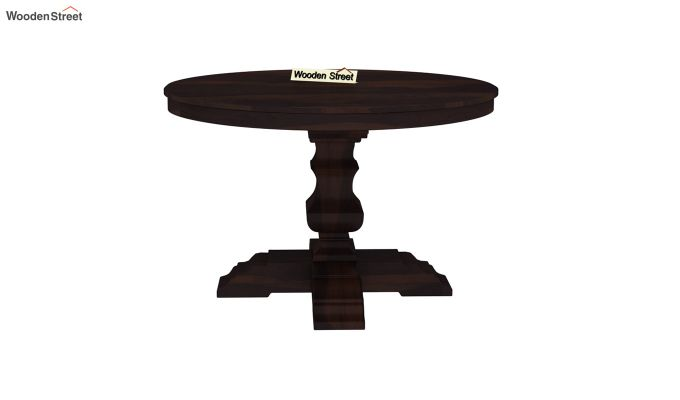 Clark Round 4 Seater Dining Table (Walnut Finish)-3