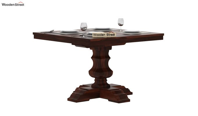 Clark Square 4 Seater Dining Table (Walnut Finish)-2