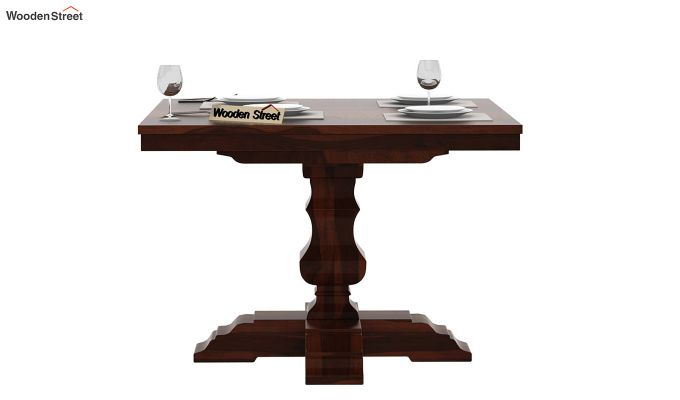 Clark Square 4 Seater Dining Table (Walnut Finish)-3