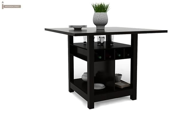 Cornel Dining Table With Storage (Black Finish)-1