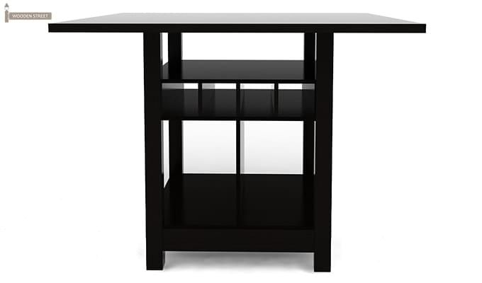 Cornel Dining Table With Storage (Black Finish)-2