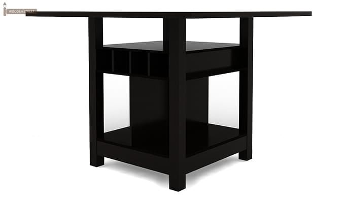 Cornel Dining Table With Storage (Black Finish)-3