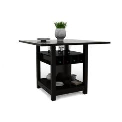 Cornel Dining Table With Storage (Black Finish)