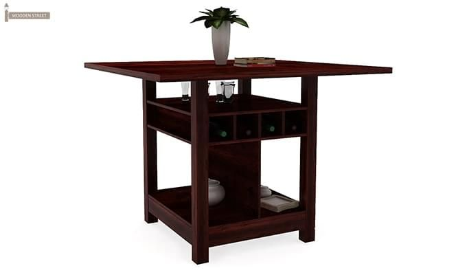 Cornel Dining Table With Storage (Mahogany Finish)-1