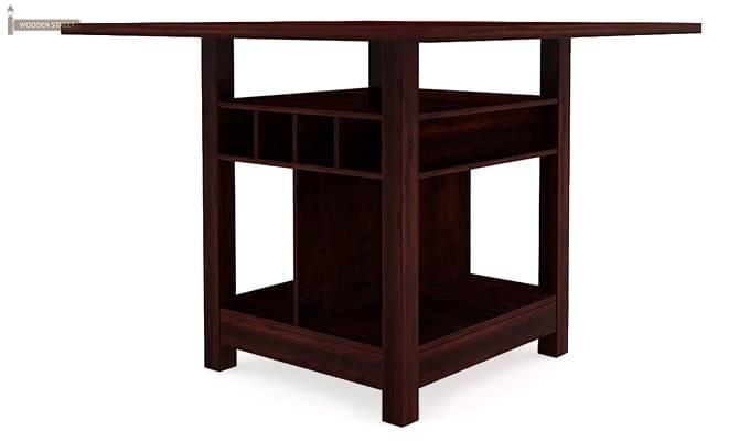 Cornel Dining Table With Storage (Mahogany Finish)-3