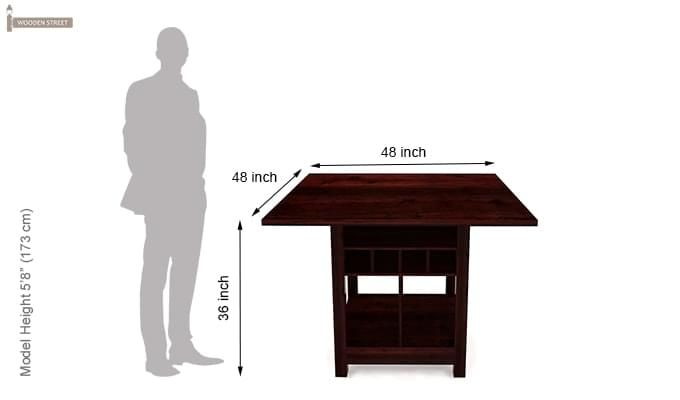Cornel Dining Table With Storage (Mahogany Finish)-5